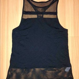 Fabletics Black Tank Top with Mesh details Small